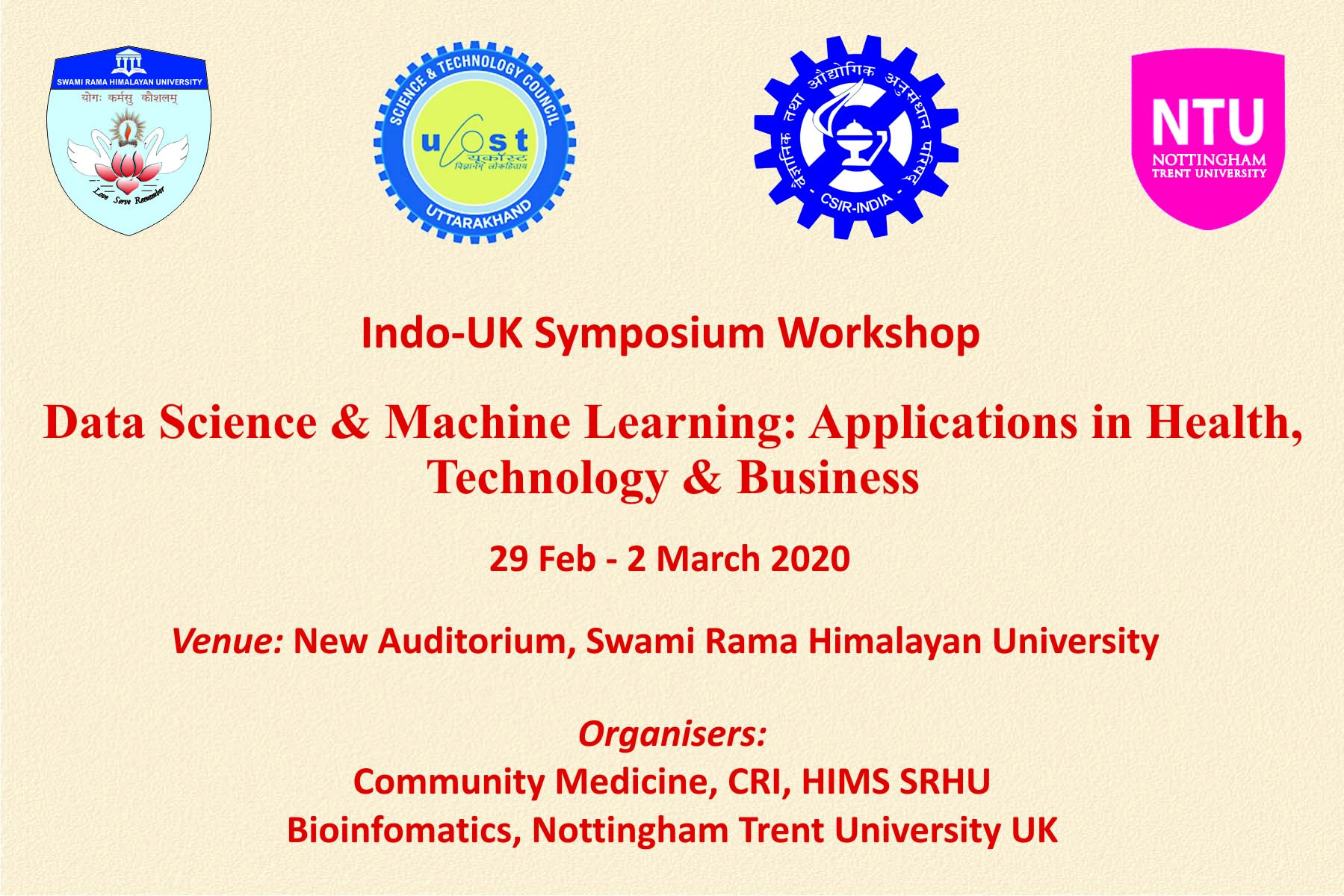 Data Science and Machine Learning Workshop in SRHU